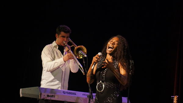Vocalist Buika performing at Town Hall in New York as part of Winter Jazzfest 2018