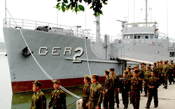 The USS Pueblo is moored in Pyongyang, North Korea, and is open to the public as a museum. It was never decommissioned and is the only U.S. naval vessel in captivity.