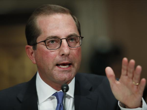 Alex Azar will take over the Department of Health and Human Services at a time when rising drug prices are a huge political issue.
