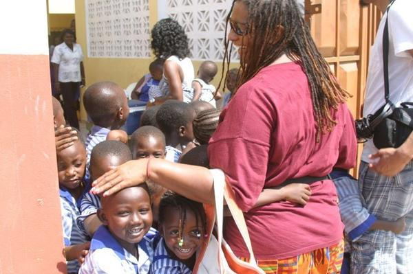 Wendy Johnson travels to Africa at least once a year to support schools.