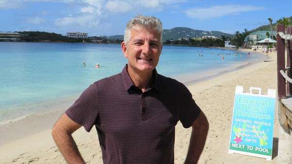 Joel Kling manages the 90-room Emerald Beach Resort on St. Thomas.