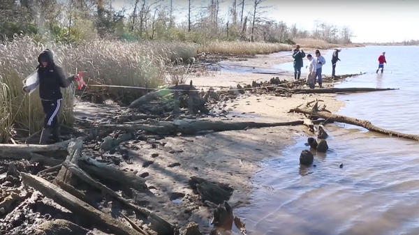 Still from <em>Wreck Found By Reporter May Be Last American Slave Ship, Archaeologists Say.</em>