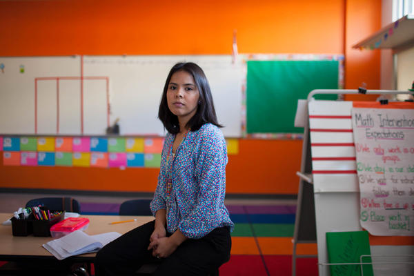 Maria Rocha, a third-grade teacher at the KIPP Esperanza Dual Language Academy in San Antonio, came to the U.S. from Mexico when she was 3 years old.