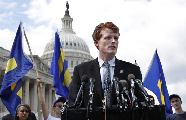 Rep. Joe Kennedy, D-Mass., is delivering the Democratic response to President Trump's State of the Union address on Tuesday.