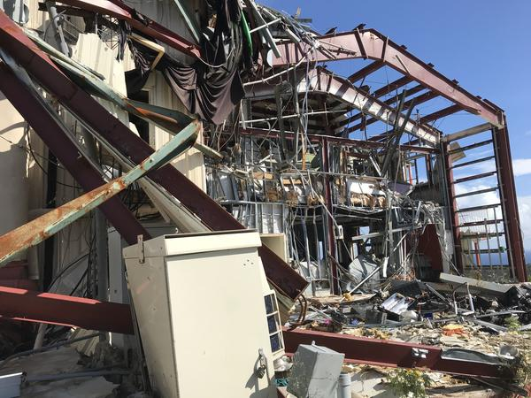 Hurricane Irma's high winds destroyed WTJX's radio and television studios in St. Thomas.