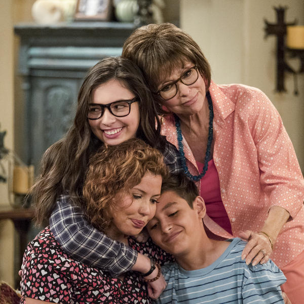 The cast of One Day At A Time: (clockwise from top) Rita Moreno; Marcel Ruiz; Justina Machado; and Isabella Gomez.