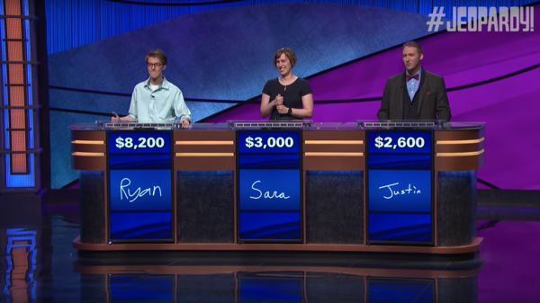 The contestants on Thursday's episode of Jeopardy! do not watch a lot of football.