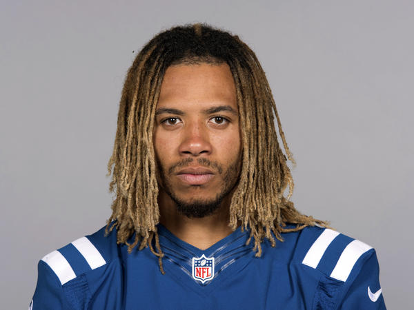 Indianapolis Colts football player Edwin Jackson in a photo from earlier this year. Jackson, 26, was one of two men killed when a suspected drunken driver struck them as they stood outside their car along a highway in Indianapolis.