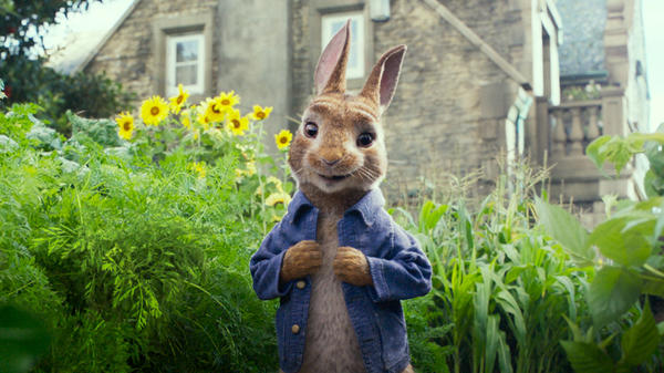 Watership Downer: In this crass, repetitive animated adaptation, Peter Rabbit (James Corden) competes for the affection of a neighbor.
