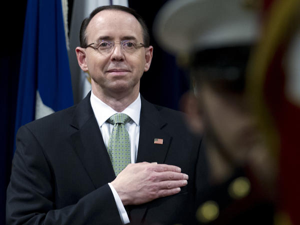 Deputy Attorney General Rod Rosenstein is recommending to the White House how much of a secret countermemo by intelligence committee Democrats should become public this week.