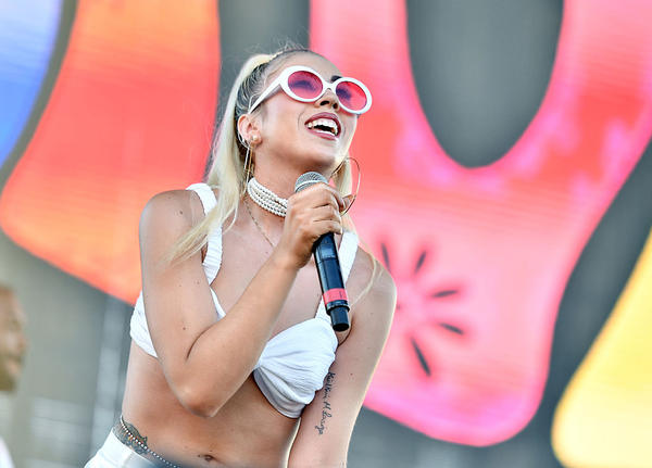 Kali Uchis performs on Camp Stage during day two of Tyler, the Creator's 5th Annual Camp Flog Gnaw Carnival at Exposition Park on Nov. 13, 2016 in Los Angeles, Calif. (Mike Windle/Getty Images)