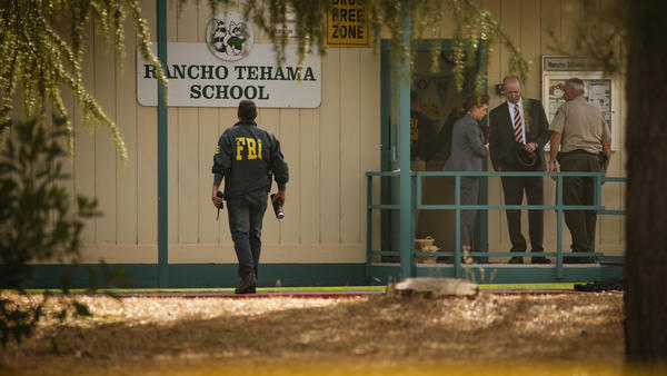 Outside Rancho Tehama Elementary School after the  shooting on Nov. 14, 2017.