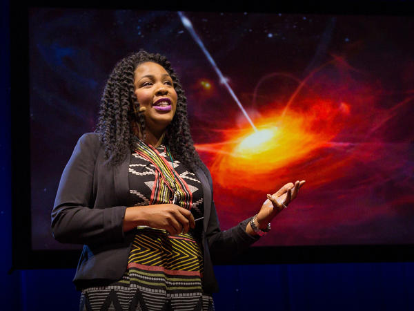 Jedidah Isler speaks on the TED stage.