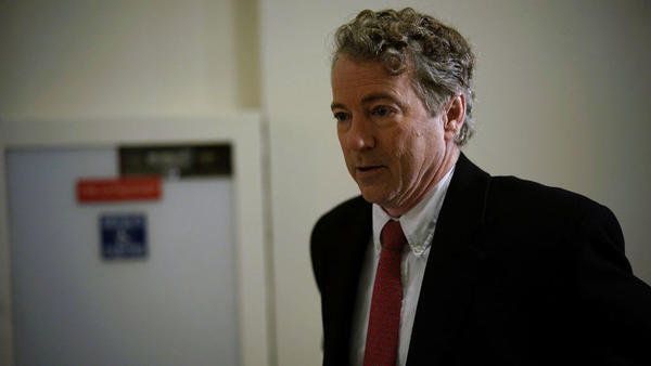 Sen. Rand Paul, R-Ky., blocked a budget deal Thursday as the government ran out of funding at midnight. Paul sought a vote on an amendment to restore budget caps in the funding bill.