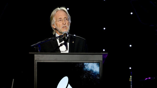 Recording Academy president and CEO Neil Portnow onstage at a pre-Grammy Awards event in New York City on Jan. 27.