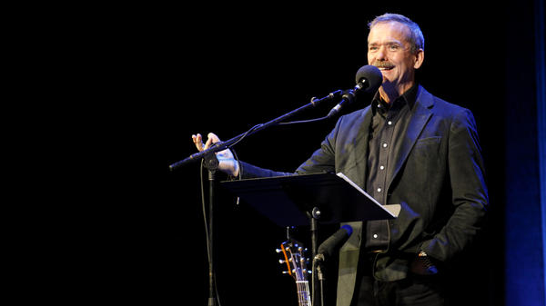 Chris Hadfield appears on NPR's Ask Me Another at The Warner Theatre in Washington, D.C.