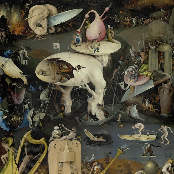 Cover art for Pearls Before Swine's album <em>One Nation Underground</em>, a detail from Hieronymous Bosch's <em>The Garden of Earthly Delights</em>.