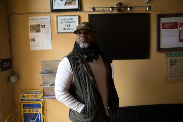 "Adrian Henderson says he and other black restaurateurs in Oakland share tips about trends and bad employees. ""I think sometimes there is a perception of service and quality of food that we have to deal with, in regard to competing with white restaurants that serve American cuisine or high end,"" he says."