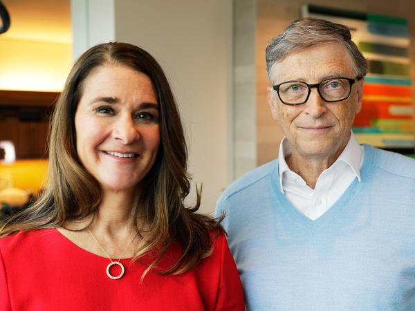 Melinda and Bill Gates in Kirkland, Washington, in February.