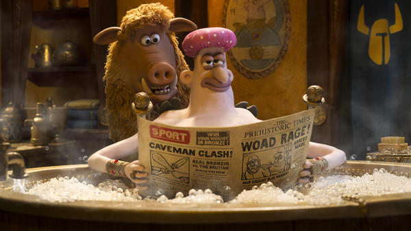Hognob (Nick Park) and Lord Nooth (Tom Hiddleston) in <em>Early Man, </em>a pre-historic animated feature from the the co-director of <em>Chicken Run. </em>