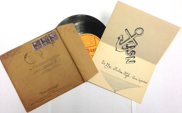 In the 1930s and '40s many people sent love letters to each other by sending their voices on records.