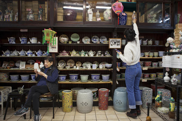Mei Lum's grandmother, Nancy Seid (left), inherited the shop from her father.