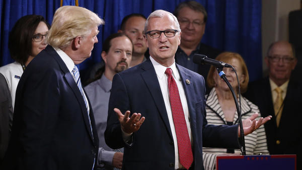 Rep. Kevin Cramer, R-N.D., talks in May 2016 about being one of the first to endorse then-Republican presidential candidate Donald Trump.