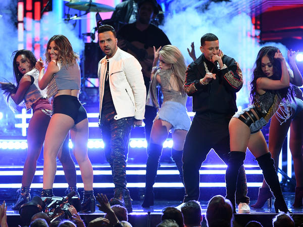 Luis Fonsi and Daddy Yankee, performing with female dancers during this year's Grammy telecast, is a topic on this week's show.
