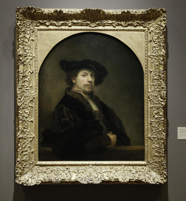 Rembrandt's<em> Self Portrait at the Age of 34</em>, on loan from the National Gallery in London, was painted in 1640.