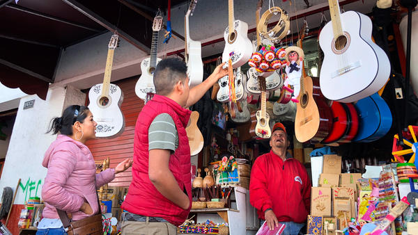 "Guitars, especially white-painted ones, in the Mexican town of Paracho are selling fast thanks to <em>Coco</em>. ""We are all <em>loco</em> for <em>Coco</em>,"" one shopkeeper says."