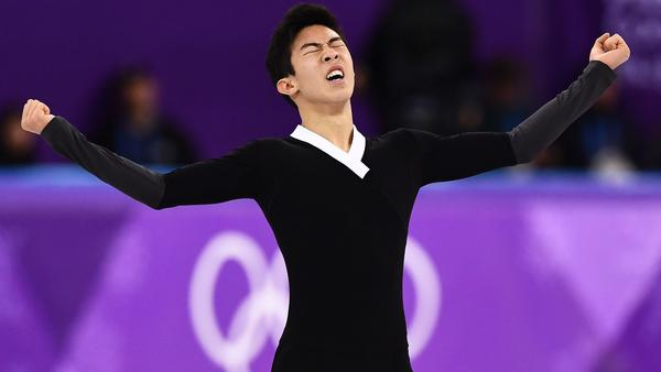 """I just wanted to leave here satisfied with what I have done and I definitely am,"" Nathan Chen said, after rebounding from a rough short program to make a personal-best score in the men's free skate."