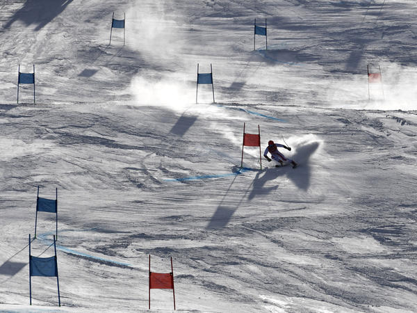 PYEONGCHANG - Marcel Hirscher of Austria in action during the Alpine Skiing Men's Giant Slalom. (Alain Grosclaude/Agence Zoom/Getty Images)