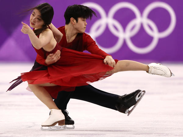 """It feels like gold. It's unbelievable,"" Alex Shibutani said, after he and his sister, Maia, won bronze in the ice dance free skate."
