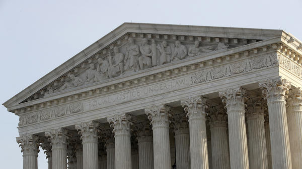 The U.S. Supreme Court is shown on Dec. 4, 2017, in Washington, D.C. The court, continuing a years-long pattern, has declined to hear a constitutional challenge to a state gun law.