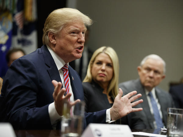 President Trump meets with state and local officials on school violence Thursday, including Florida Attorney General Pam Bondi.