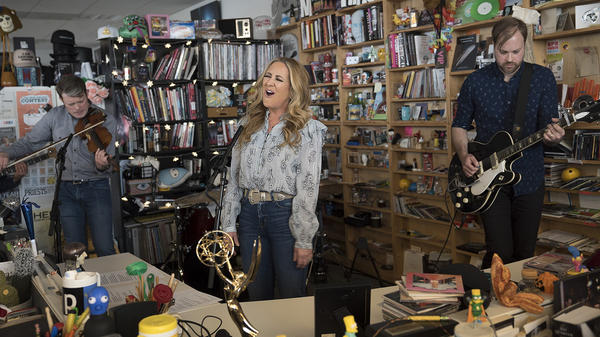 Lee Ann Womack performs a Tiny Desk Concert on Jan. 15, 2018 (Claire Harbage/NPR).