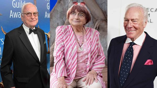 (L-R) James Ivory, Agnes Varda, and Christopher Plummer are all nominated for this year's Academy Awards.