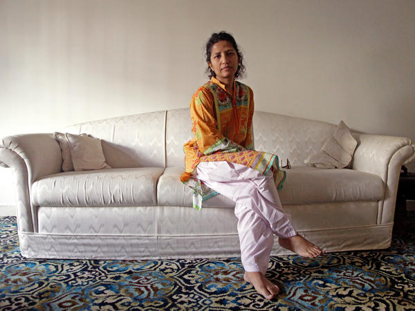 Leena Khandwala, 44, at her family home in Karachi, Pakistan. After members of her religious community in the U.S. and Australia were arrested for performing female genital mutilation, she decided to go public about her childhood experience of being cut.