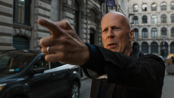 """Stop! In the name! Of love! Be-fore you break! My masculinity!"" Paul Kersey (Bruce Wills) points at something in the otherwise pointless <em>Death Wish. </em>"