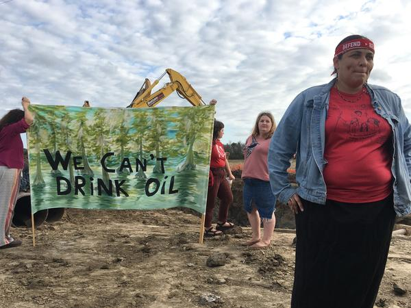 Activist Cherri Foytlin vows to physically block construction of the Bayou Bridge Pipeline in Louisiana.