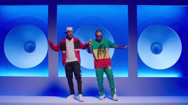 "Nicky Jam and J Balvin show off their dance moves in ""X."""