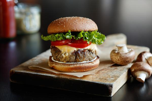 The idea behind the blended beef-mushroom burger is that mixing chopped mushrooms into our burgers boosts the umami taste, adds more moisture and reduces the amount of beef needed. And reducing the need for beef has a big impact on the environment.