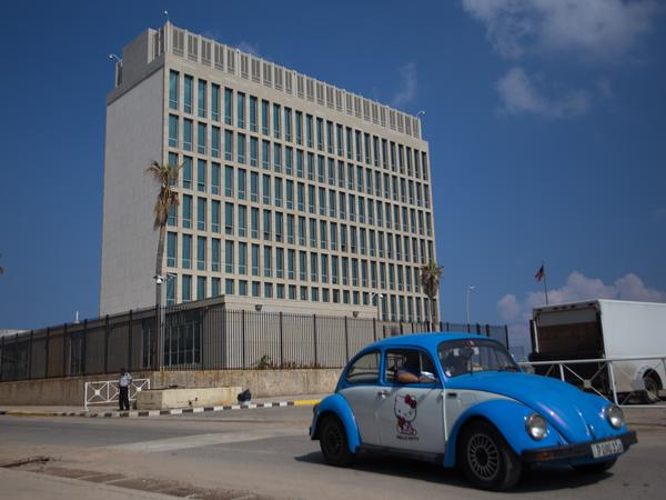 The State Department has set permanent cuts in personnel at the U.S. embassy in Havana, Cuba. Health damage suffered there by Americans is still unexplained.