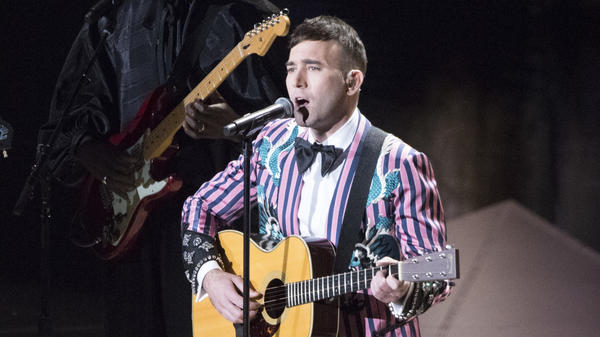 "Sufjan Stevens, performing his Oscar-nominated song ""Mystery of Love"" at the 90th Academy Awards on Sunday, March 4, 2017."