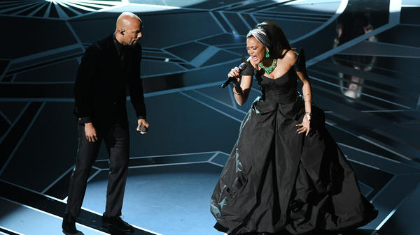 Common and Andra Day performing during the 90th Annual Academy Awards on March 4, 2018.