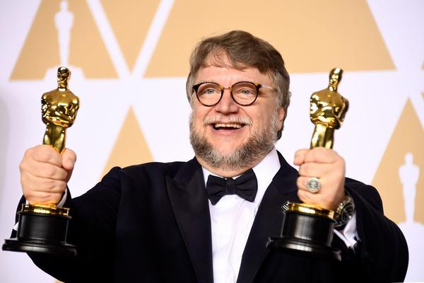 "Filmmaker Guillermo del Toro, winner of the Best Director and Best Picture awards for ""The Shape of Water,"" poses in the press room during the 90th Annual Academy Awards on March 4, 2018 in Hollywood, Calif. (Frazer Harrison/Getty Images)"