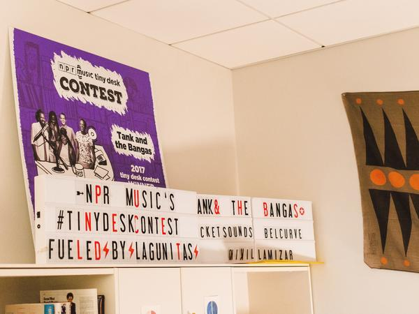 A sign from last year's Tiny Desk Contest.