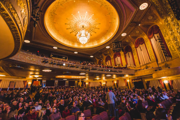 The NPR Politics team recorded a podcast at the Warner Theatre in Washington, D.C. on January 18, 2018.
