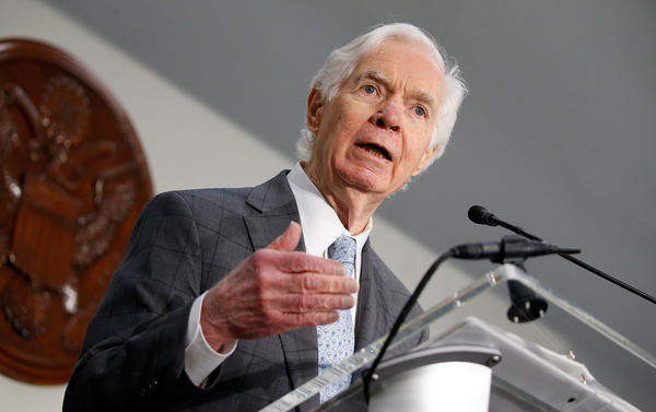 Sen. Thad Cochran, R-Miss., announced on Monday that he would be resigning in April.
