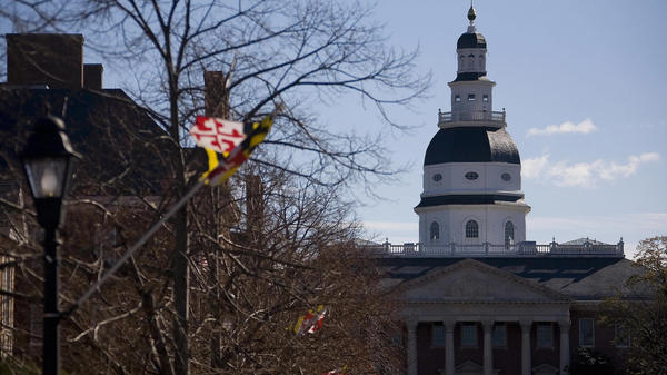 The Maryland Senate approved a bill on Monday that would require candidates on a presidential ticket to release their tax returns in order to appear on the state's ballot. The Maryland State House in Annapolis is seen here in 2007.